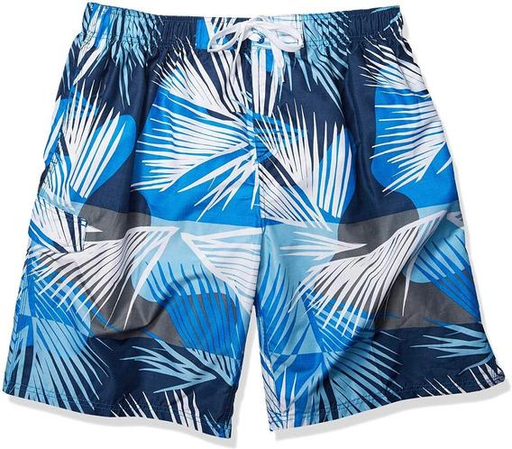 Excelente Boardshort Traje De Baño Kanu Surf 5xl Blue Palm