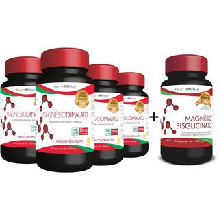 4x Magnésio Dimalato Nutriblue + 01 Quelato - Oferta
