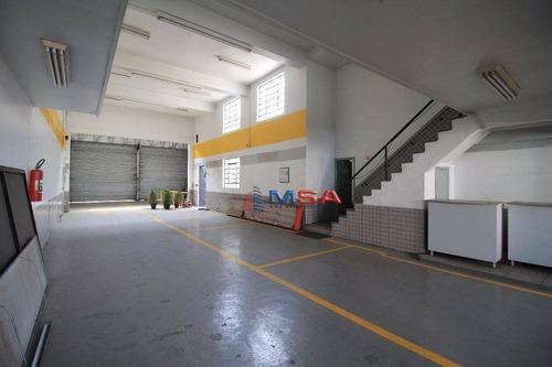 Galpão Para Alugar, 745 M² Por R$ 18.000,00/mês - Vila Romana - São Paulo/sp - Ga0079