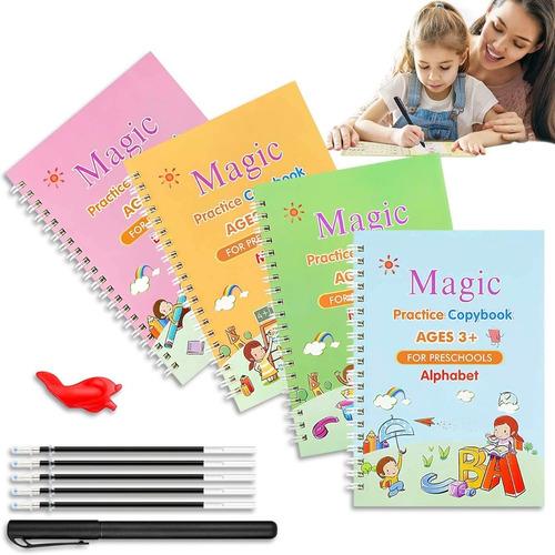 Imagen 1 de 6 de Set Cuadernos Reutilizables Para Caligrafía, Letras, Números