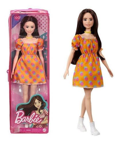 Imagem 1 de 5 de Barbie Fashionistas 160 Oriental Vestido Bolinhas