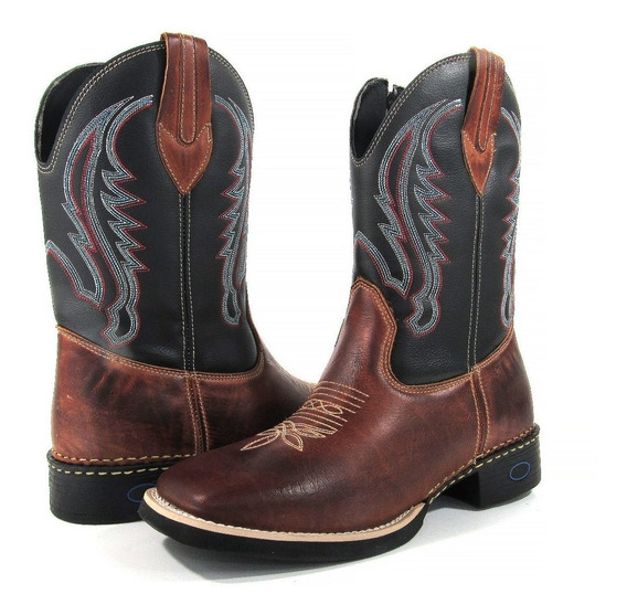 Bota Country Masculina Cano Longo Texana Couro Leather West