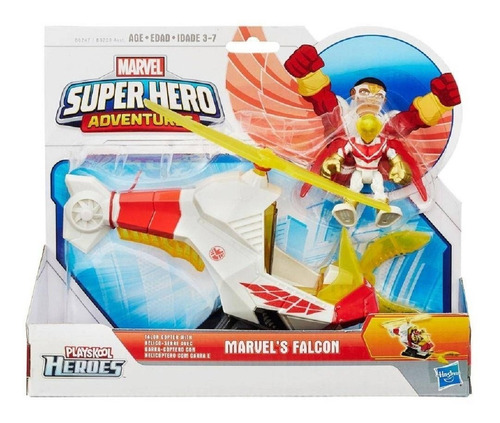 Imagem 1 de 2 de Playskool Heroes Marvel Helicóptero Com Garra E Falcon Hasbr