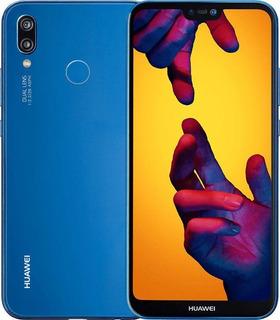 Huawei P20 Lite Azul 32gb + Funda Como Nuevo Hasta 6 Cuotas