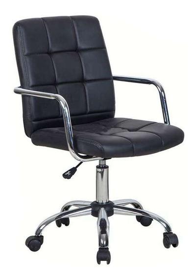 Cadeira De Escritório Secretária Fitz Preta