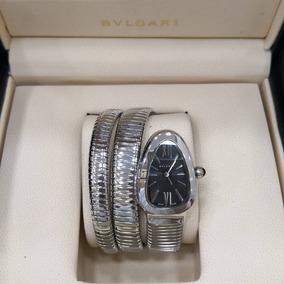 Relógio De Luxo Unissex Bvlgari Serpente Cristalizado