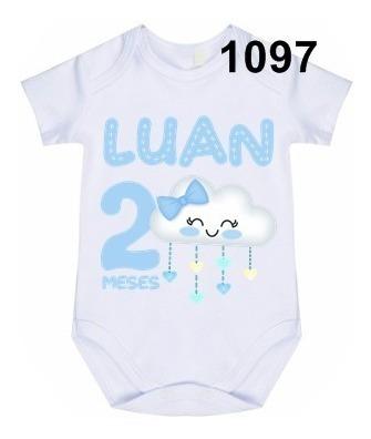1 Body Bebê Personalizado Chuva De Bênção Menino