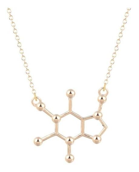 Collar Cafeína Molecula Quimica Biologo Ciencia Envio Gratis