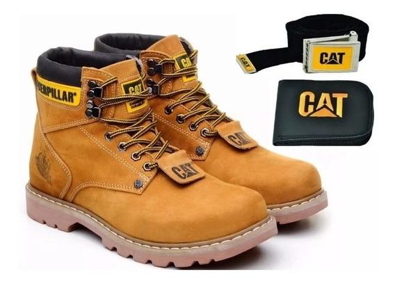 Bota Cat Masculina Cuero Legítimo Varios Colores
