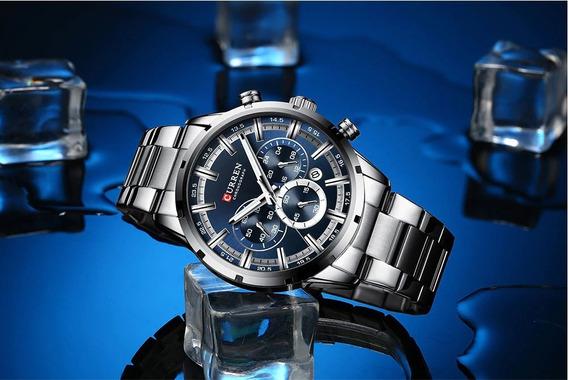 Relógio Masculino Elegante Curren 8355