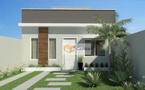 Imagem 1 de 8 de Casa Com 2 Dormitórios À Venda, 59 M² Por R$ 273.000,00 - Cidade Satélite Íris - Campinas/sp - Ca3256