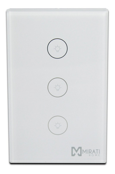 Switch De Pared Inteligente Mirati Wifi 3 Apagadores Touch