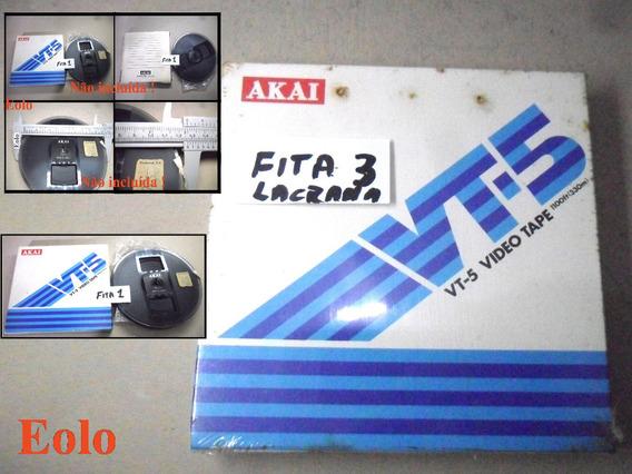 Carretel Fita Akai Original 5 Gravador De Rolo Vt-100 &