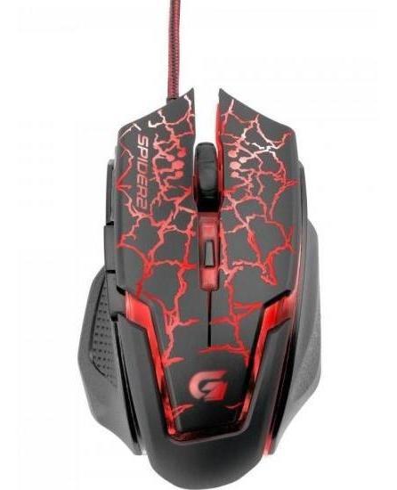 Mouse Gamer Usb 3200dpi Spider 2 Om-705 Preto/vermelho Fortr