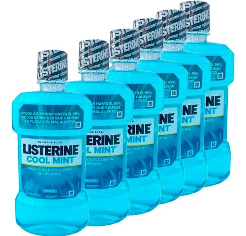 Listerine Cool Mint Oferta 6 Unid 500 Ml (3000 Ml) Enjuague