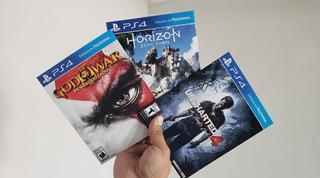 Juegos Ps4 Estuche De Carton Horizon Uncharted 4 God Of War