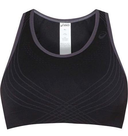 Top Preto S/ Costura Asics Fit Sana Running Fitness Promoção