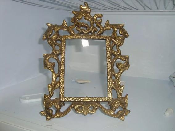 Antigo Porta Retrato Em Bronze 02/17 #155