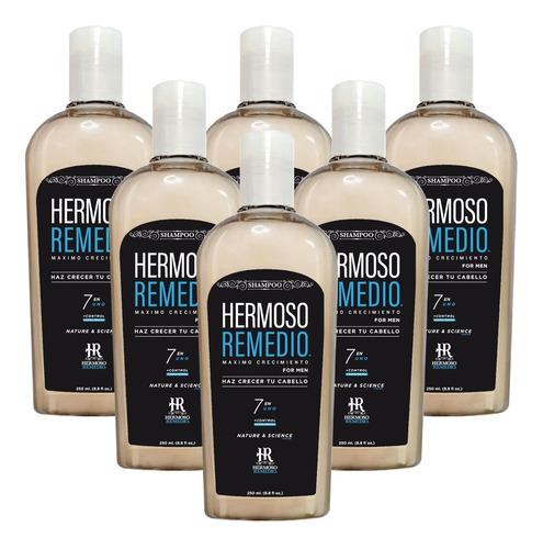 6 Shampoo Crecimiento Anticaída Caspa Reparador Hombre 7en1
