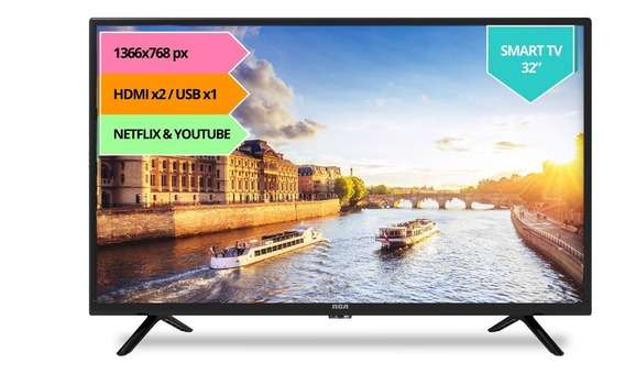 Smart Tv Hd Rca 32 X32sm Hdmi Usb 2.0 Wifi Apps