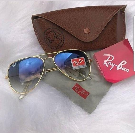 Óculos De Sol Aviador, Ray-ban Femino E Masculino