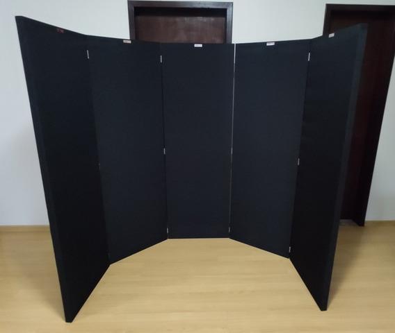 Biombo Acústico 5 Placas 180x60x4 Densidade 96kg/m³ Isodrums