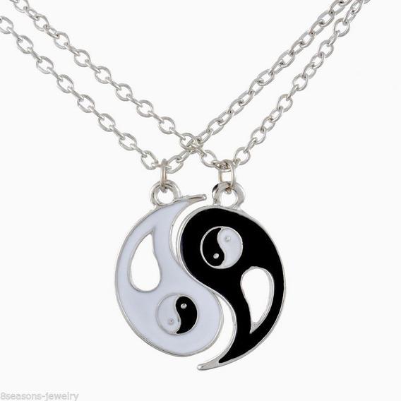 Colar Yin Yang Dia Dos Namorados