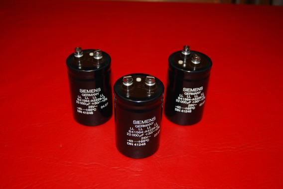 Capacitor Electrolítico Blindado 22000uf 25vdc Siemens
