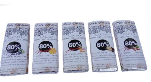 Imagen 1 de 10 de Combo X10 Barras De Chocolates Cacao 80% A Eleccion S/azucar