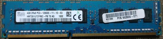 Memória Hynix 4gb Ram 2rx8 Pc3 12800e