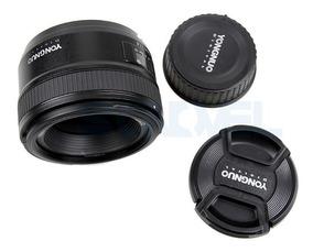 Lente Yongnuo 50mm F1.8 Af Para Canon Ef + Acessórios