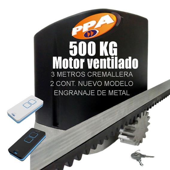 Motor Porton Corredizo 500kg 1/4hp Pesado Kit Automatico