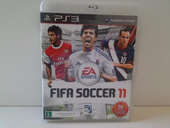 Jogo Ps3 Fifa Soccer11 Original Com Encarte