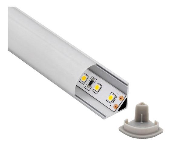 Perfil De Aluminio De Luz Led Esquinero Bari Lampara