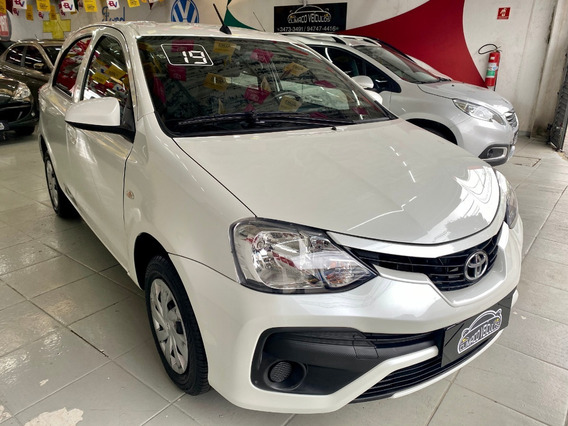Toyota Etios X 1.3 Flex Completo Branco Perolizado 2019 !!!!