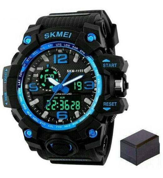 Relógio Skmei Original Modelo 1155 Azul Prova D