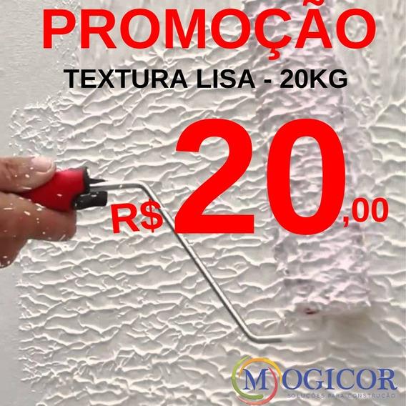 Textura Saco 20kg Rola Fácil P/ Paredes Rebocadas E Pintadas