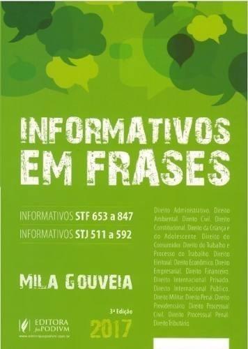 Informativos Do Stf E Stj Em Frases - Mila Gouveia