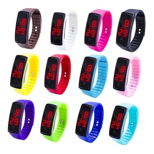 Reloj Pulsera Led Silicona Unisex Deportivo Ajustable Touch