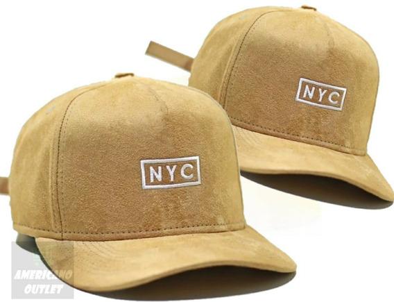 Boné Aba Curva New York City Ny Strapback Fitão Promoção