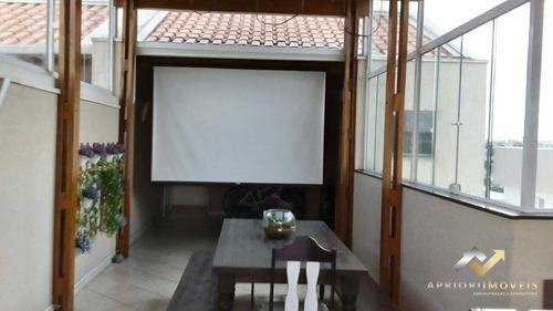 Cobertura Com 2 Dormitórios À Venda, 134 M² Por R$ 400.000 - Vila Tibiriçá - Santo André/sp - Co0399