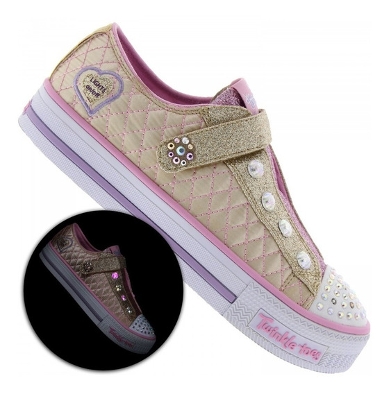 Tênis Feminino Infantil Skechers Sparkly Jewels C/ Luz Led
