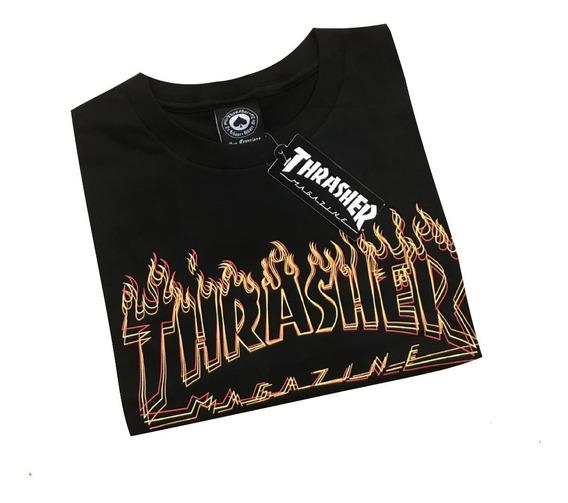 Remeras Thrasher X 3. Envíos Sin Cargo.