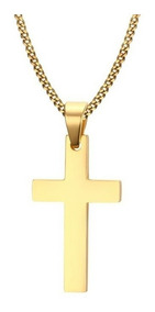 Corrente Colar Cordão Masculino Aço Inox Crucifixo Oferta