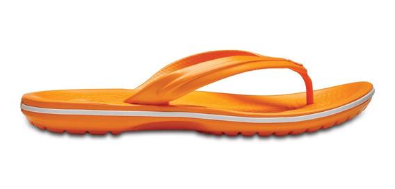 Sandalia Crocs Dama Crocband Flip Naranja