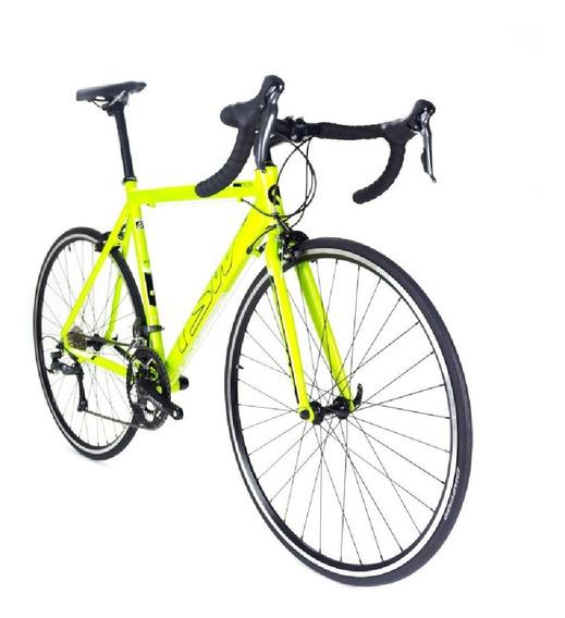 Bicicleta Speed Aro 700 16 Velocidades Claris Amarelo Tsw