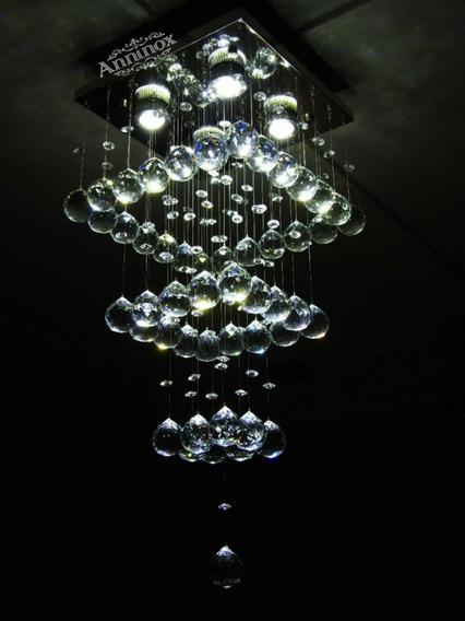 Lustre De Cristal Legítimo K9 Pra Sala De Estar Mesa De Jant