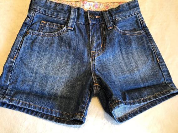 Short Jean Uni Qlo Muy Buen Estado Talle 3/4 Años