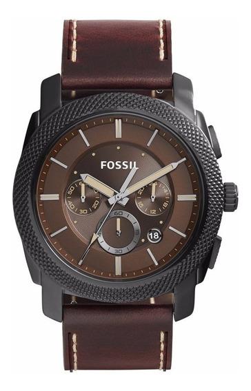 Relógio Masculino Fossil Machine - Fs5121 ( Nota Fiscal )