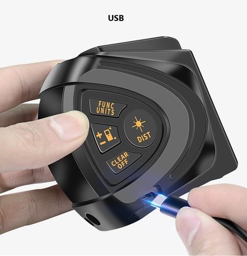 Cinta Metrica Digital Laser 4 En 1,  M M² M³ Med. Pitagórica